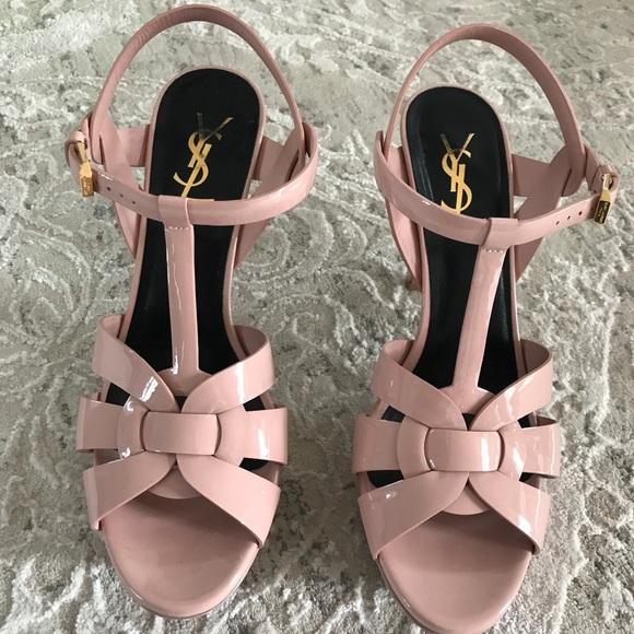 dda2e3d5230 YSL- Tribute 75 Patent Leather Blush Pink Heels. M 5a93291cd39ca24a3209808f
